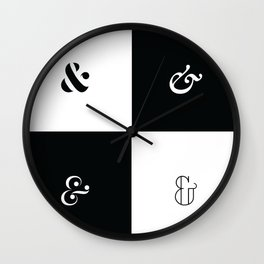 For the Love of Ampersand #1 Wall Clock