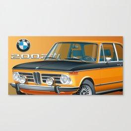 BMW 2002 ti Alpine from 1968 Canvas Print
