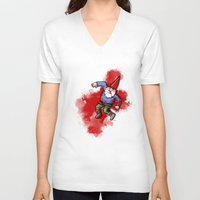gnome V-neck T-shirts featuring Crushed Gnome by Stephan Brusche