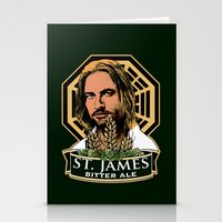 ale giorgini Stationery Cards featuring St. James Bitter Ale by Ant Atomic
