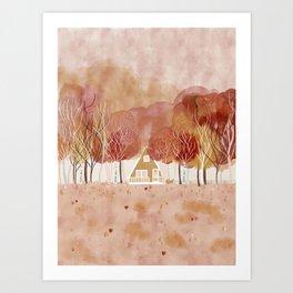 Fall House Art Print
