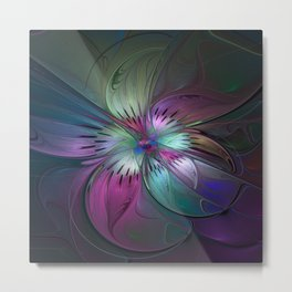 Abstract Colorful Fractal Art Metal Print
