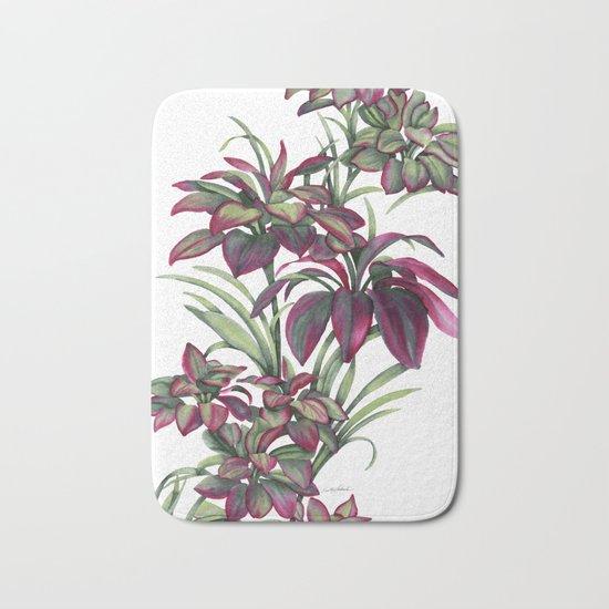 Tropical Leaves Sing Bath Mat