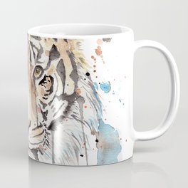 """Watercolor Painting of Picture """"Portrait of a Tiger"""" Coffee Mug"""