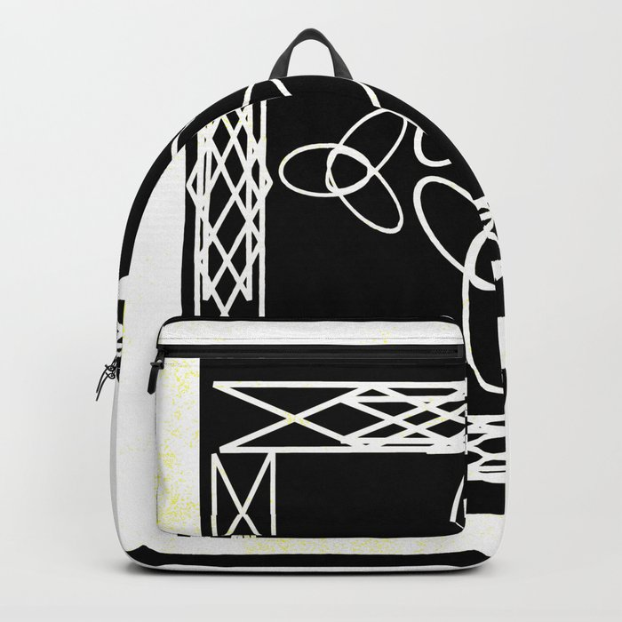 Celtic Deco Black and White Backpack
