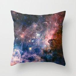Carina Nebula's Hidden Secrets Throw Pillow