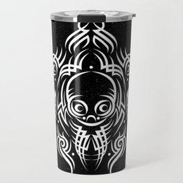 Alien Tribal Tattoo - white Travel Mug