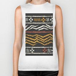 African Tribal Pattern No. 84 Biker Tank