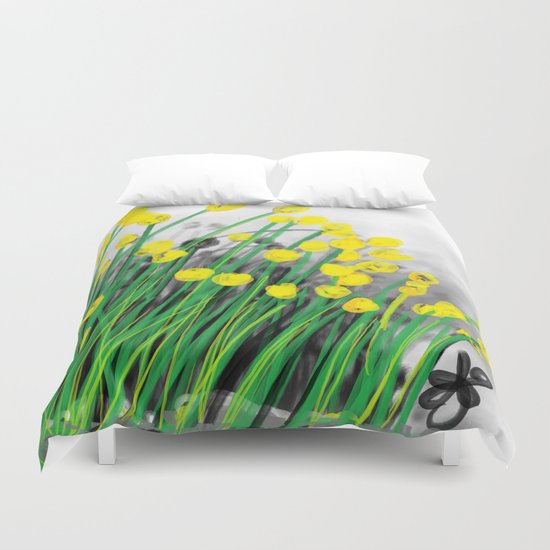 Yellow Flowers! Duvet Cover