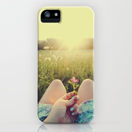 Delicate Flower Sunset iPhone Case
