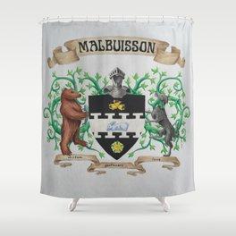 Malbuisson Family Crest Shower Curtain