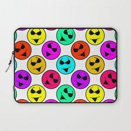 Smiley Bikini Bright Neon Smiles on White Laptop Sleeve