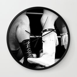 wrestling boots Wall Clock