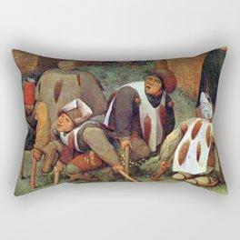 Pieter Brueghel the Elder - The Beggars Rectangular Pillow