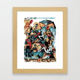 HANNA-BARBERA SUPER HEROES Framed Art Print