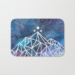 Watercolor galaxy Night Court - ACOTAR inspired Bath Mat
