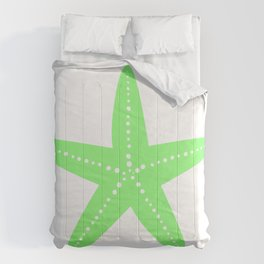 Starfish (Light Green & White) Comforters