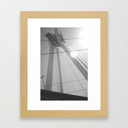 Bridge in Ludwigshafen, Germany. Framed Art Print