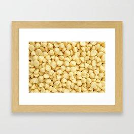 White chocolate chips Framed Art Print