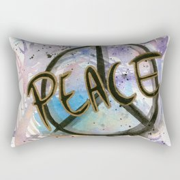 Peace Sign Art Print Rectangular Pillow