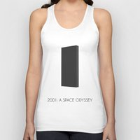 2001 Tank Tops featuring 2001: a space odyssey by A.ROOM