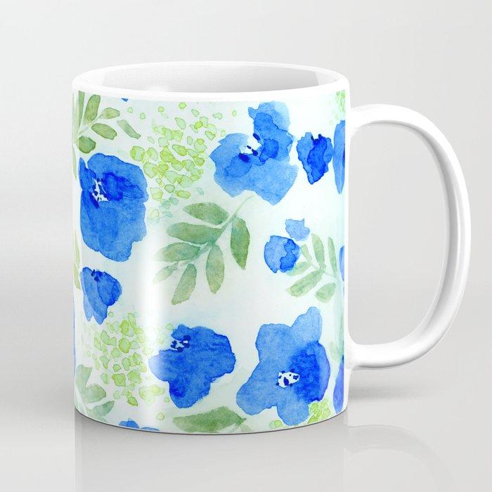 Floret (Blue) Coffee Mug