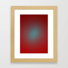 Polka dots with a twist (red) Framed Art Print