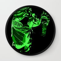 racing Wall Clocks featuring Racing Fans by Umbrella Design
