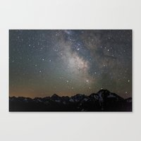 milky way Canvas Prints featuring Milky Way by Luke Gram