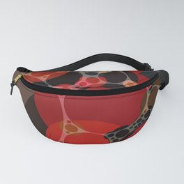 phoebe - dark red charcoal grey chestnut brown abstract design Fanny Pack