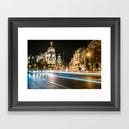 Gran Via (Madrid) Framed Art Print