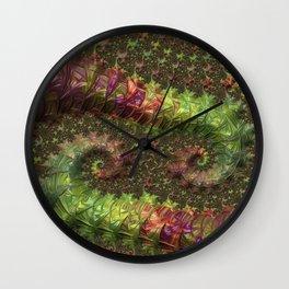 Fractal Spirals Wall Clock