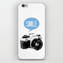 Vintage Canon Camera, Smile iPhone Skin