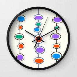 Mid Mod Bubbles in Pastel Wall Clock