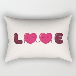 Love - Cute Doodles Rectangular Pillow