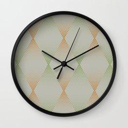 Fading Polka Dot Diamond Wall Clock