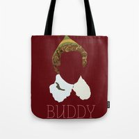 will ferrell Tote Bags featuring Buddy the Elf and you by Ally Simmons