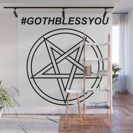 #GOTHBLESSYOU INVERTED INVERSE Wall Mural