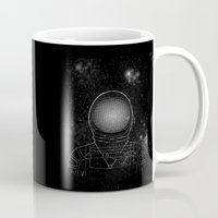astronaut Mugs featuring Astronaut  by Becky Hayes