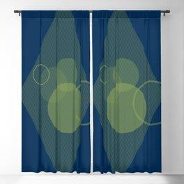 Bokeh Blue Blackout Curtain