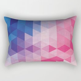 Minimalist blue and pink degrade Rectangular Pillow
