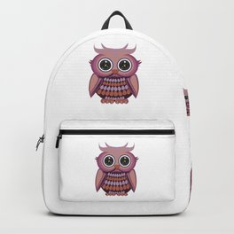 Star Eye Owl - Purple Orange Backpack