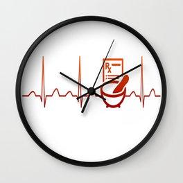 PHARMACIST HEARTBEAT Wall Clock
