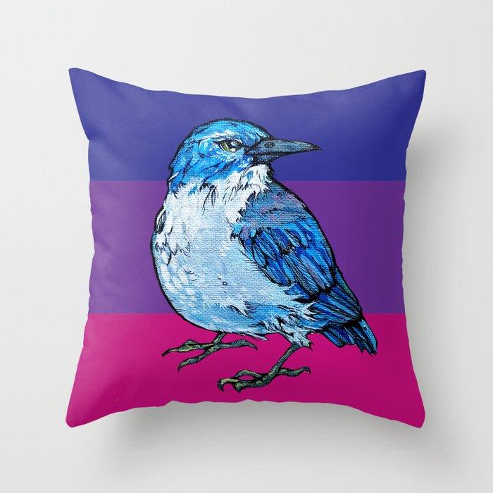 L'il Lard Butt Graphic Scrub Jay Throw Pillow
