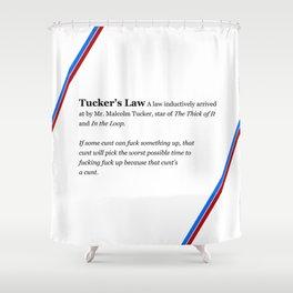 Tucker's Law Shower Curtain