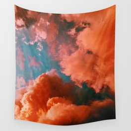 The Pink Clouds (Color) Wall Tapestry