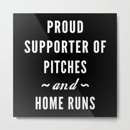 Pitches And Home Runs Metal Print