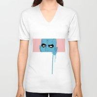 manhattan V-neck T-shirts featuring manhattan by Molnár Roland