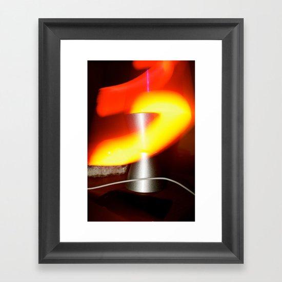 Lavalamp Framed Art Print