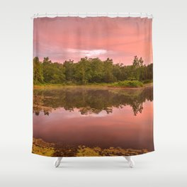 Pink Twilight Marsh Shower Curtain